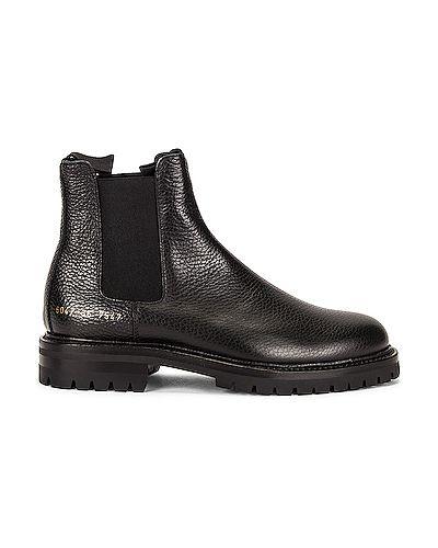 Кожаные ботинки челси - белые Common Projects