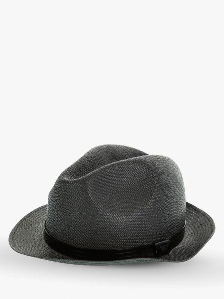 Кожаные черные шляпа Emporio Armani