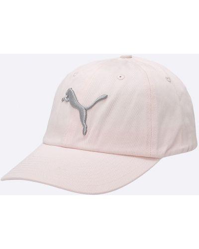 Розовая шапка хлопковая Puma