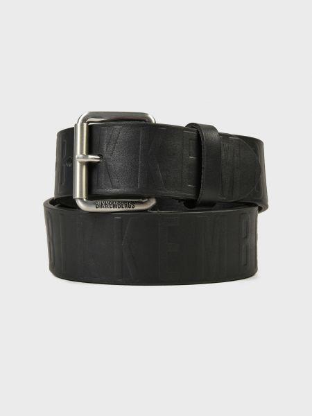 Черный кожаный ремень Bikkembergs