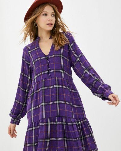 Прямое фиолетовое платье Trendyol