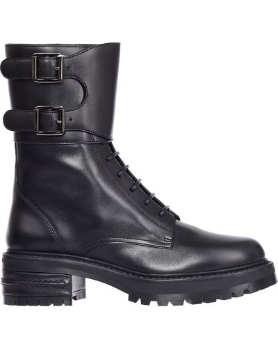 Ботинки на каблуке осенние кожаные Christian Dior