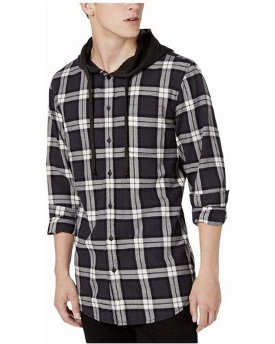 Хлопковая черная рубашка с капюшоном American Rag