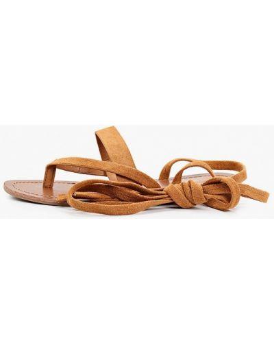 Текстильные коричневые сандалии Ideal Shoes®