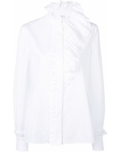 Рубашка с длинным рукавом белая асимметричная Lanvin