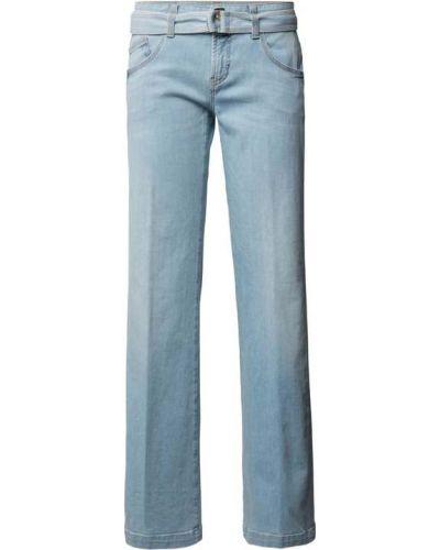 Niebieskie jeansy bawełniane rozkloszowane Cambio