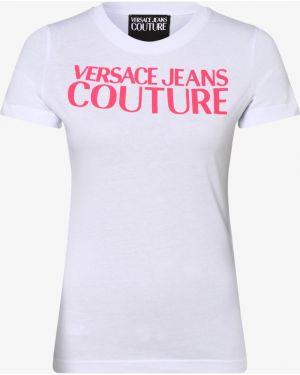 T-shirt z printem - białe Versace Jeans