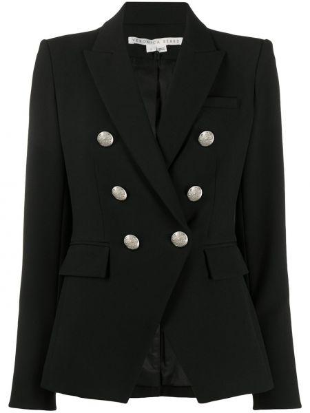 Черная куртка милитари двубортная Veronica Beard