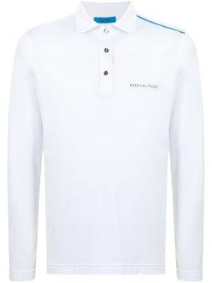 Biała koszula bawełniana z długimi rękawami Stefano Ricci