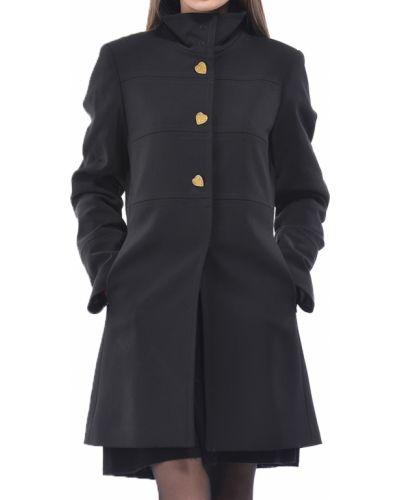 Черное пальто с капюшоном Blugirl