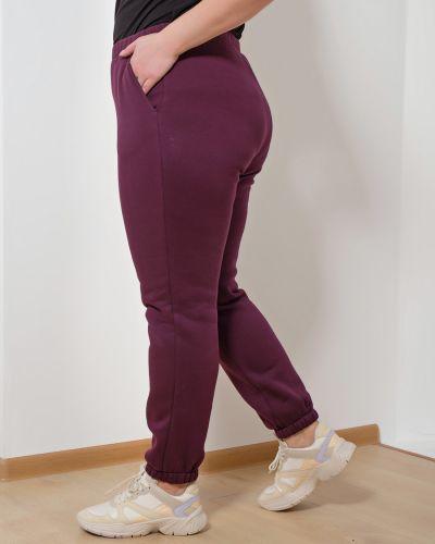 Хлопковые брюки с начесом Dora