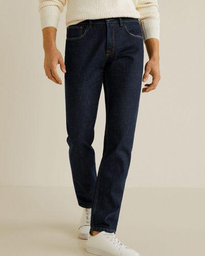Прямые джинсы с карманами на пуговицах Mango Man
