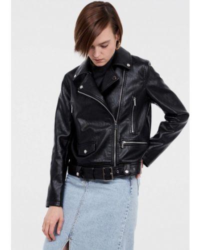 Кожаная куртка черная осенняя Lime