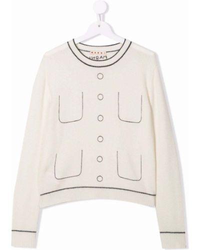 Biały z kaszmiru sweter Marni Kids