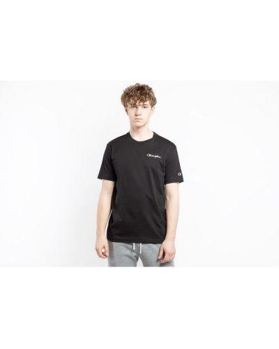 Czarny t-shirt na co dzień bawełniany Champion