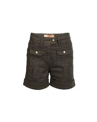 Джинсовые шорты с отворотами милитари карго Blumarine
