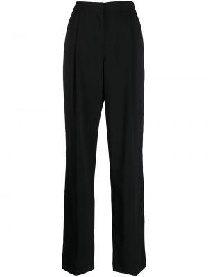 Черные брюки с высокой посадкой из вискозы на крючках Emilio Pucci