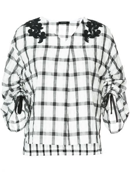 Czarna bluzka bawełniana rozkloszowana Loveless