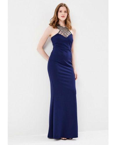 Синее платье Goddiva