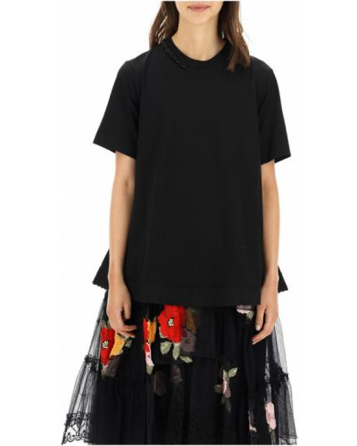 Czarna t-shirt Simone Rocha