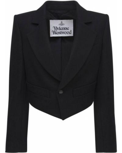 Черный пиджак на подкладке Vivienne Westwood