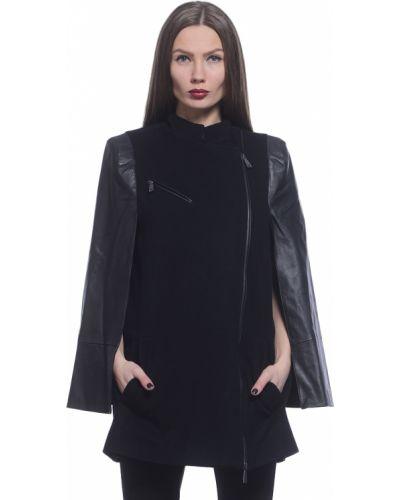 Черное пальто с капюшоном Richmond
