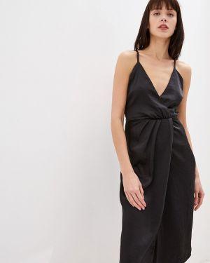 Вечернее платье осеннее черное Vila