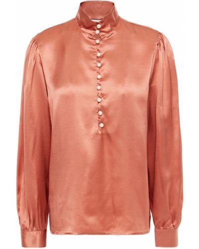 Шелковая блузка с манжетами с жемчугом Paul & Joe