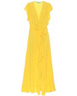 Желтое летнее платье из вискозы Melissa Odabash
