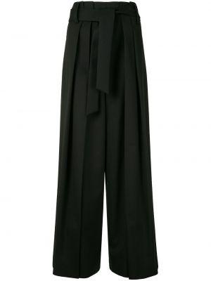 Черные свободные брюки с завязками с поясом свободного кроя Goen.j