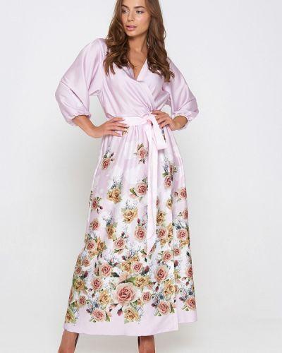 Розовое вечернее платье Sellin