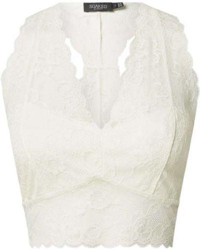 Biustonosz koronkowy - biały Soaked In Luxury