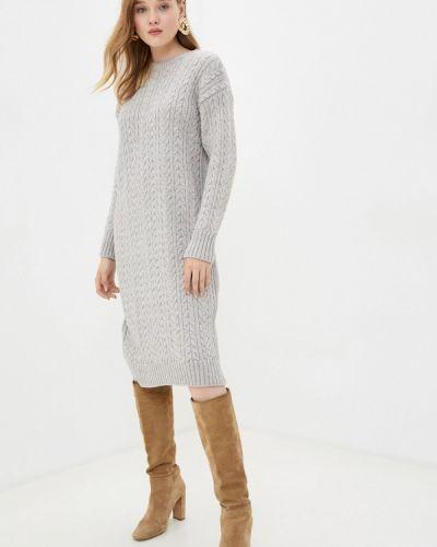 Вязаное серое платье Mavi