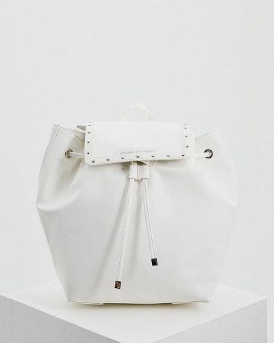 Белый рюкзак Armani Exchange