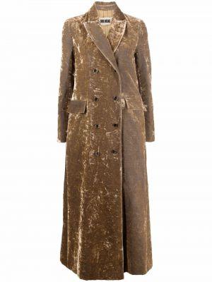 Бархатное пальто золотое Uma Wang