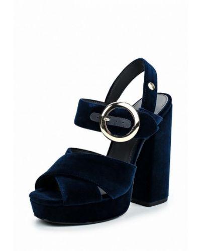 Синие босоножки на каблуке Tommy Hilfiger