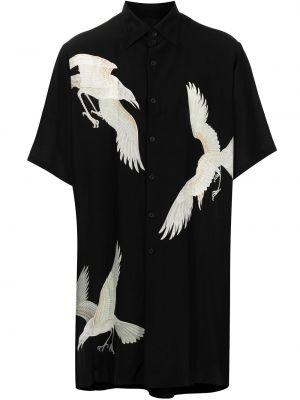 Biała biała koszula krótki rękaw Yohji Yamamoto