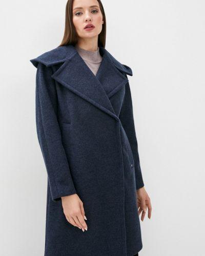 Свободное синее пальто двубортное Finn Flare