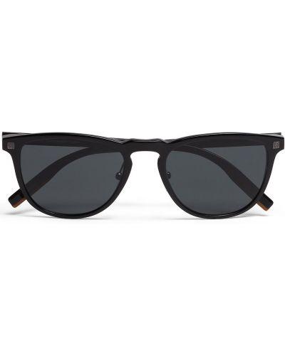 Черные солнцезащитные очки Ermenegildo Zegna