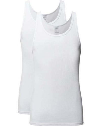 Biała koszulka bawełniana Schiesser