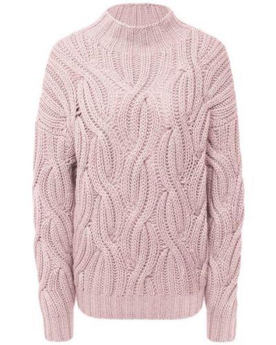 Розовый кашемировый свитер Brunello Cucinelli