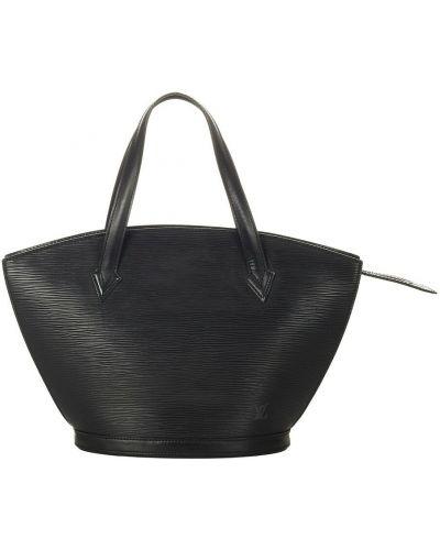 Czarny pasek skórzany Louis Vuitton Vintage