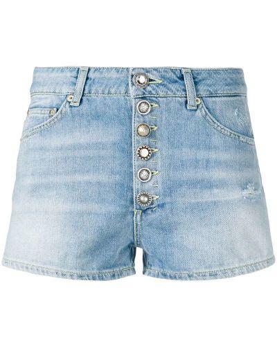 Джинсовые шорты с заниженной талией синий Dondup
