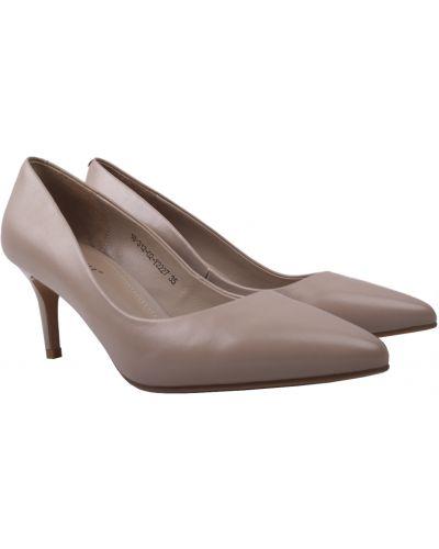 Кожаные туфли - бежевые Djovannia