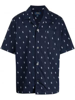 Piżama bawełniana - niebieska Polo Ralph Lauren