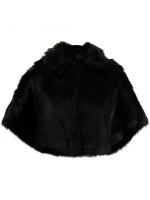 Czarna narzutka z dekoltem w serek Unreal Fur