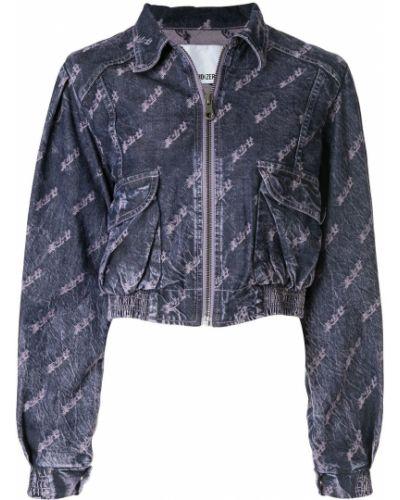 Синяя джинсовая куртка на молнии с манжетами Ground Zero
