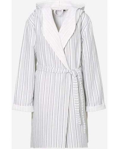 Biały szlafrok bawełniany Marc O Polo