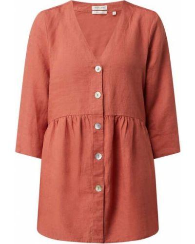 Pomarańczowa bluzka z dekoltem w serek Christian Berg Women