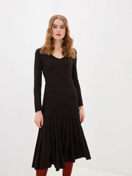 Платье серое вязаное Naf Naf